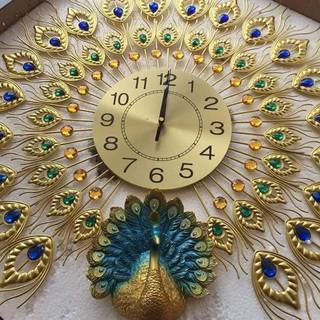 Đồng hồ treo tường trang trí con công