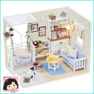 """Mô Hình Nhà Gỗ DIY """"Ngôi nhà của mèo"""""""