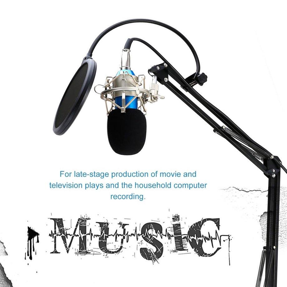 Studio Condenser Microphone Sound Recording Audio Wired For live Radio KTV