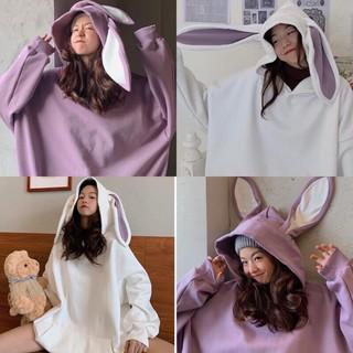 [SIÊU HÓT] Áo Hoodie Nỉ Tai Thỏ Cute Form Rộng, Áo Nỉ Nữ Tai thỏ, Áo Hoodie Nữ Form Rộng, Áo Nỉ Mũ thumbnail