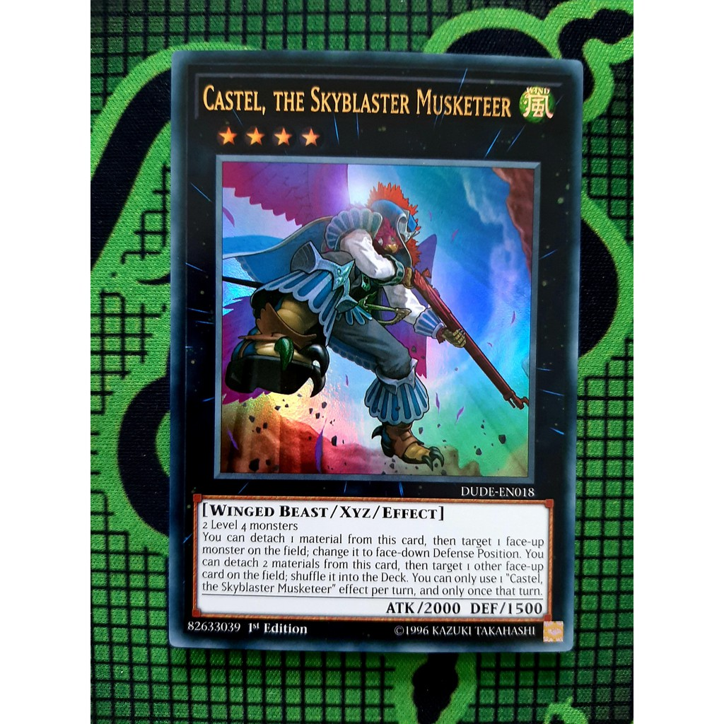 THẺ BÀI YUGIOH Castel, the Skyblaster Musketeer - DUDE-EN018 - Ultra Rare 1st Edition