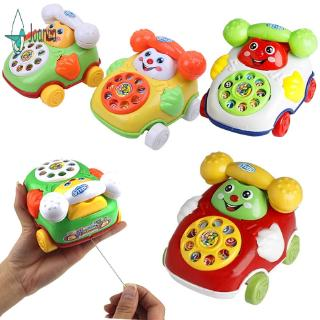 【JA】 Cartoon Kids Baby Develop Intelligence Educational Toys Pull Line Phone Children Christmas Gift
