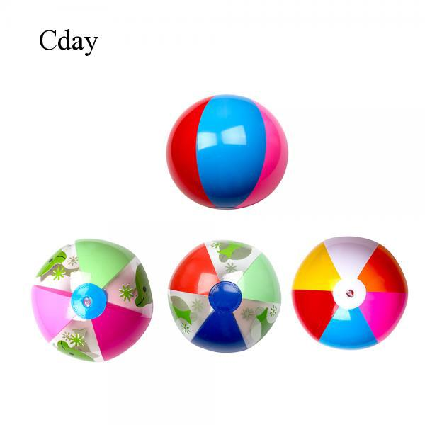 Cday 1X Children Babies Kids Six Color Beach Inflatable Water Ball Educational Toy
