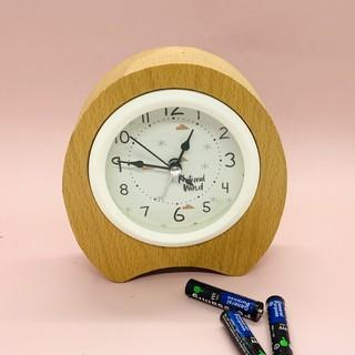 Đồng hồ để bàn vân gỗ vintage