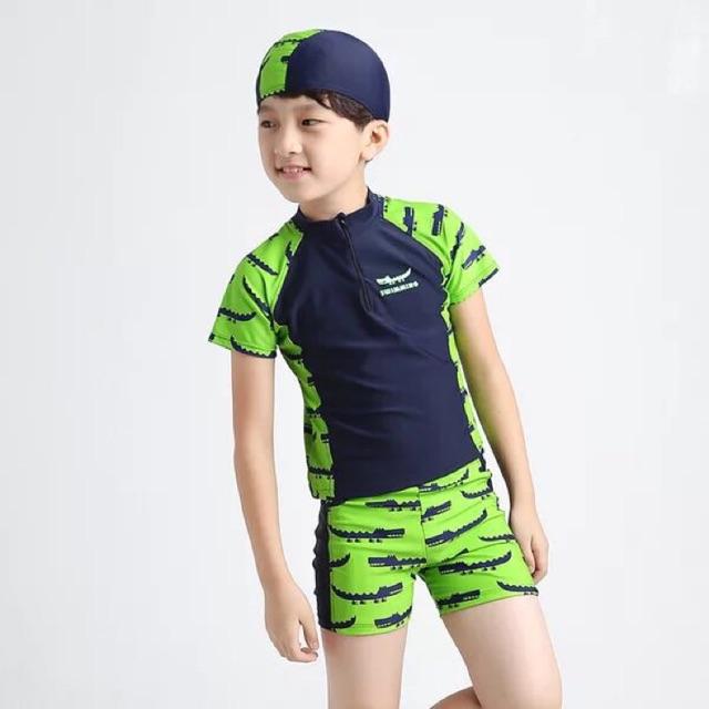 Ninikids: Bộ bơi hình cá sấu xanh cho bé trai ( bộ đồ đi biển) chất lượng tốt, bền, đẹp - 3193818 , 1086484244 , 322_1086484244 , 315000 , Ninikids-Bo-boi-hinh-ca-sau-xanh-cho-be-trai-bo-do-di-bien-chat-luong-tot-ben-dep-322_1086484244 , shopee.vn , Ninikids: Bộ bơi hình cá sấu xanh cho bé trai ( bộ đồ đi biển) chất lượng tốt, bền, đẹp