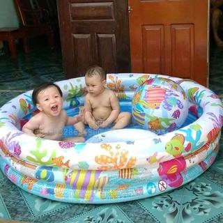 Bể Bơi Phao 3 Tầng 3 Chi Tiết Intex – Phao Tắm Hình Tròn 132x28cm TTE35