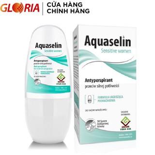 Lăn Khử Mùi Aquaselin Sensitive Women Không Mùi Dành Cho Nữ Mồ Hôi Nhẹ 50ml
