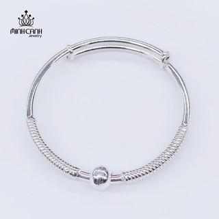 Lắc Bạc Trẻ Em Họa Tiết 1 Bi - Minh Canh Jewelry