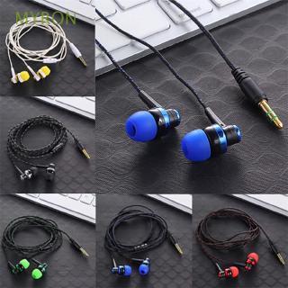 Tai nghe có dây nhét trong giắc cắm 3.5mm phối dây bện nylon kiểu dáng thời trang