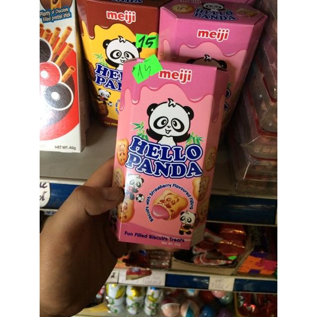 Bánh Gấy Nhật MeiJi Hello PanDa vị Dâu