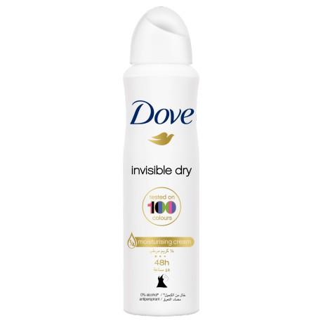 Xịt khử mùi Dove Invisible Dry Tested On 100 Colours 48h 150ml-Chính hãng