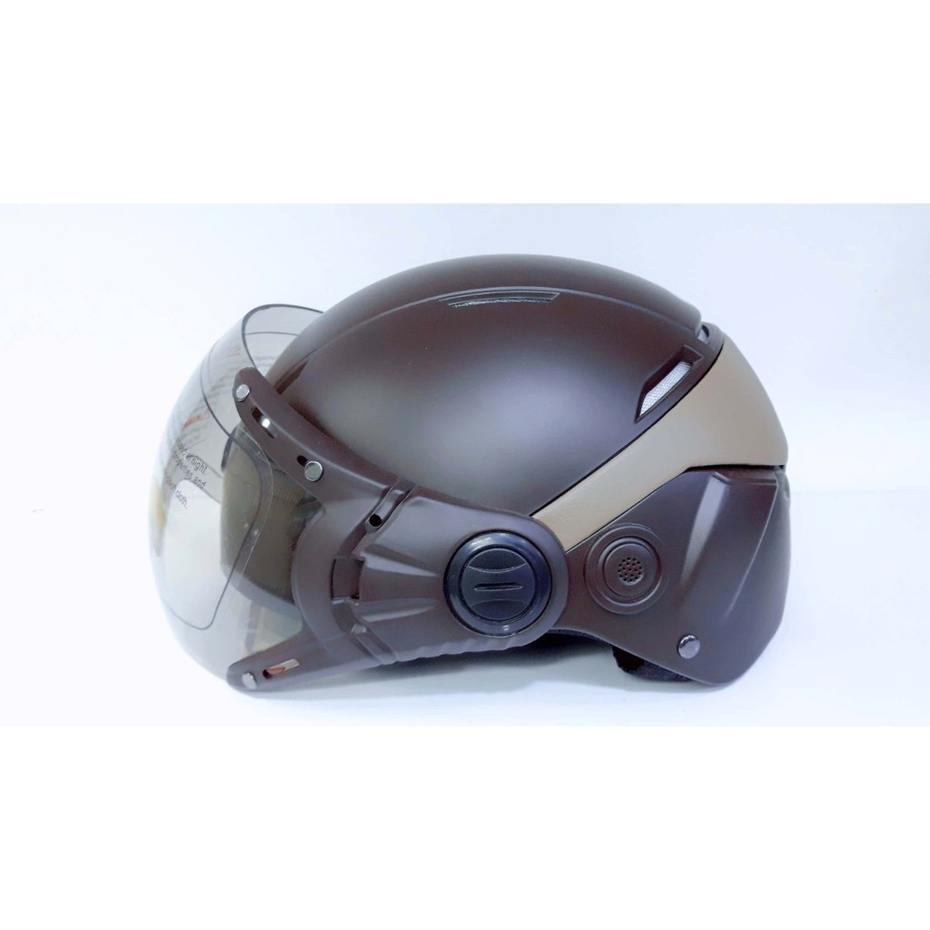 [CBHXM]Nón bảo hiểm kiến càng bọc da sau – Chuyên bảo hộ xe máy
