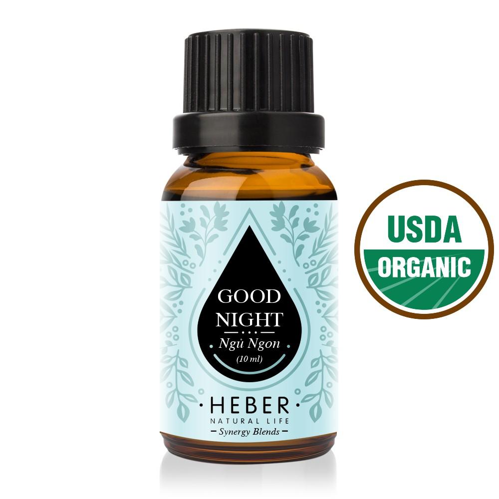 Tinh Dầu Ngủ Ngon Heber - Good Night Blends | Cao Cấp Nhập Khẩu | 100% Thiên Nhiên Nguyên Chất | Xông Thơm Phòng