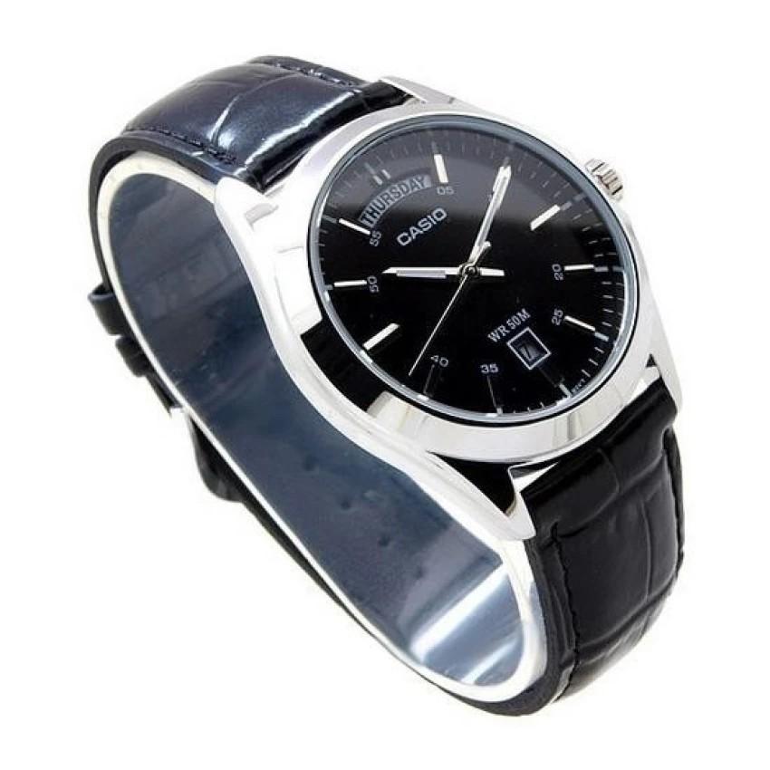 Đồng hồ nam dây da Casio chính hãng Anh Khuê MTP-1370L-1AVDF