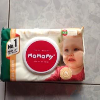 Combo 10 bịch khăn ướt Mamamy cao cấp không mùi 100 tờ bịch