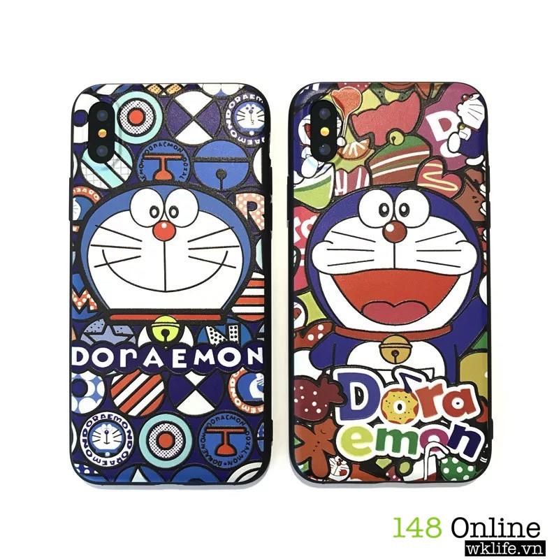 Ốp Iphone X Doremon   Viền Dẻo Chống Va Đập
