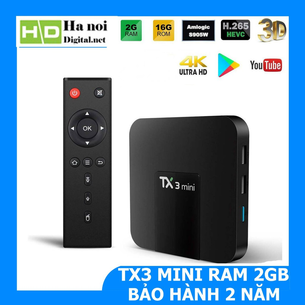 Android TV Box TX3 mini Ram 2Gb Rom 16Gb 4K Ultra HD