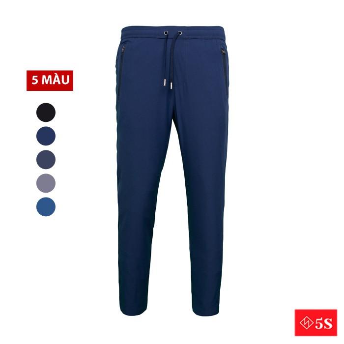 Quần Dài Nam 5S (5 màu) Ống Suông, Vải Gió Cao Cấp, Chống Nước Cản Gió, Phom Slimfit, Lưng Chun Thoải Mái