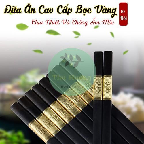 [COMBO]10 Đôi Đũa Ăn Cơm Hàn Quốc ✨ BÁN LỖ XIN 5 SAO ✨ Bọc Vàng Cao Cấp