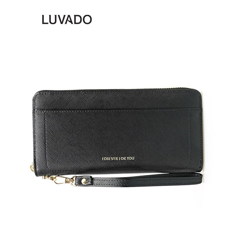 Ví nữ cao cấp cầm tay dáng dài FOREVER FOR YOU nhiều ngăn thời trang đựng tiền đẹp LUVADO VD343