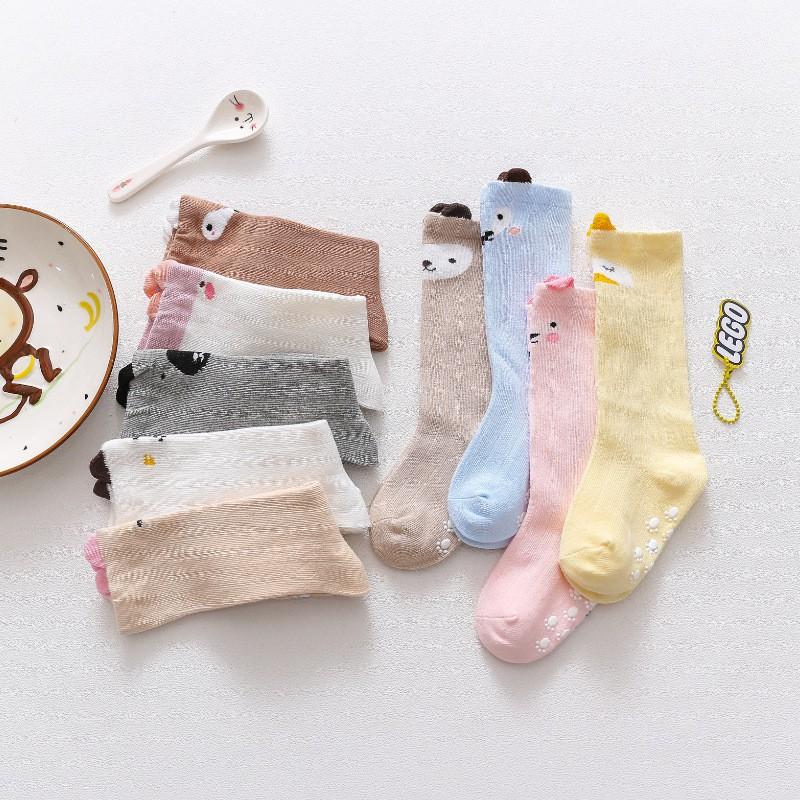 Vớ lưới dài trẻ em từ 0-1 tuổi, Vớ tất thu đông chống muỗi côn trùng cho bé trai, bé gái Cotton Hàn Quốc