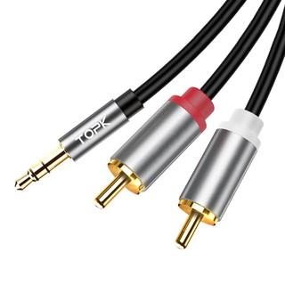 Cáp âm thanh TOPK AUX (3.5mm) sang 2 RCA 1m