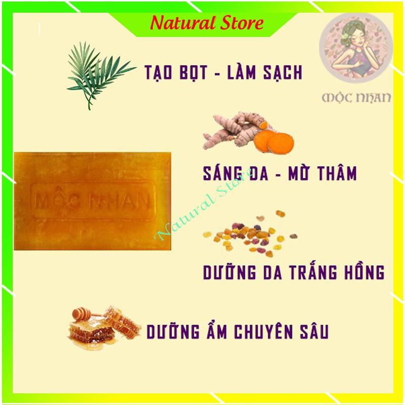Xà bông Nghệ - Xà Bông Mướp Đắng - handmade Mộc Nhan Natural - ngừa mụn, Trắng Da, Mờ Thâm, Mờ Sẹo