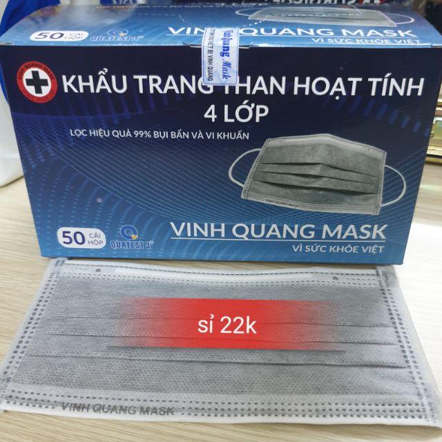 Khẩu trang than hoạt tính VINH QUANG Mask 4 lớp