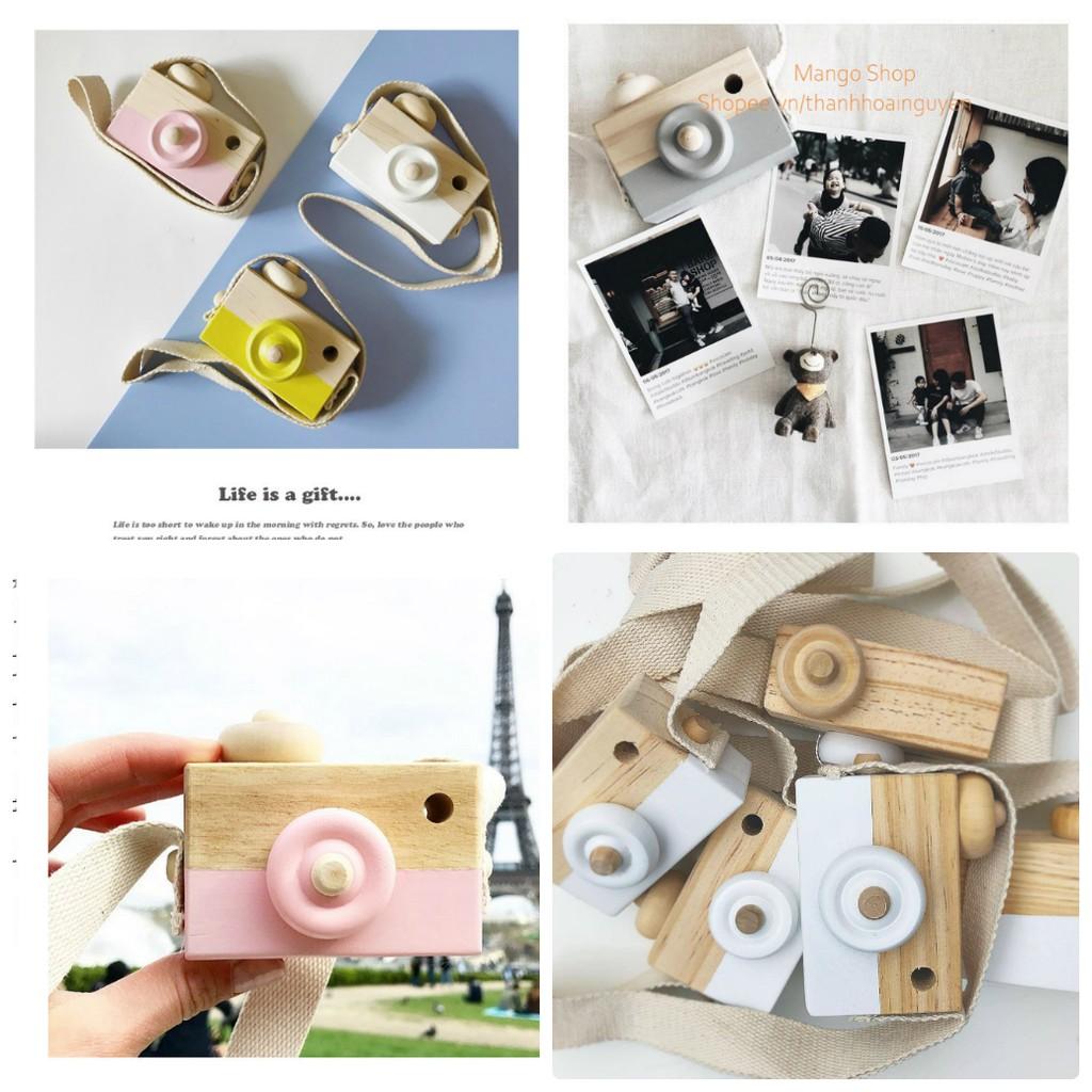Mô hình máy ảnh gỗ phụ kiện chụp ảnh , decor trang trí