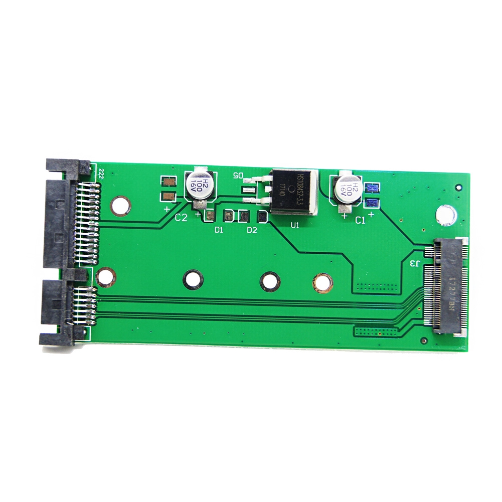 6GBs SATA3 To M.2 NGFF SSD Drive Green Boards Mini Durable Converter Computer Parts Adapter Card