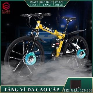 Xe đạp thể thao, địa hình MYNUO mâm bánh đúc có thể gấp gọn, khung thép siêu bền, phanh đĩa cơ học 7 cấp độ thumbnail