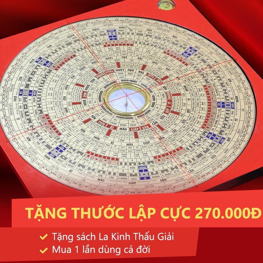 La kinh Tiếng việt 36 tầng Ngọc Phúc Đường - La bàn Phong thủy - Phong thủy  Tam Nguyên (tặng thêm thước Lập cực 270K)