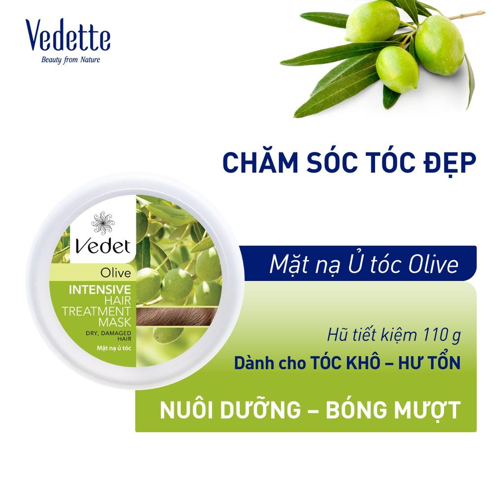 Mặt Nạ Ủ Tóc Olive 110g VEDETTE - PHỤC HỒI DÀNH CHO TÓC KHÔ & HƯ TỔN