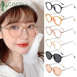 🌵CACTU🌵 Fashion Anti-Blue Light Glasses Vintage Eye Protection Eyeglasses Portable Women Men Computer Round Ultra Light Frame