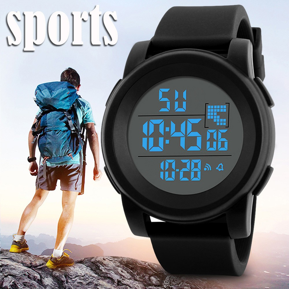 Đồng hồ điện tử chống thấm nước kiểu dáng thể thao dành cho nam