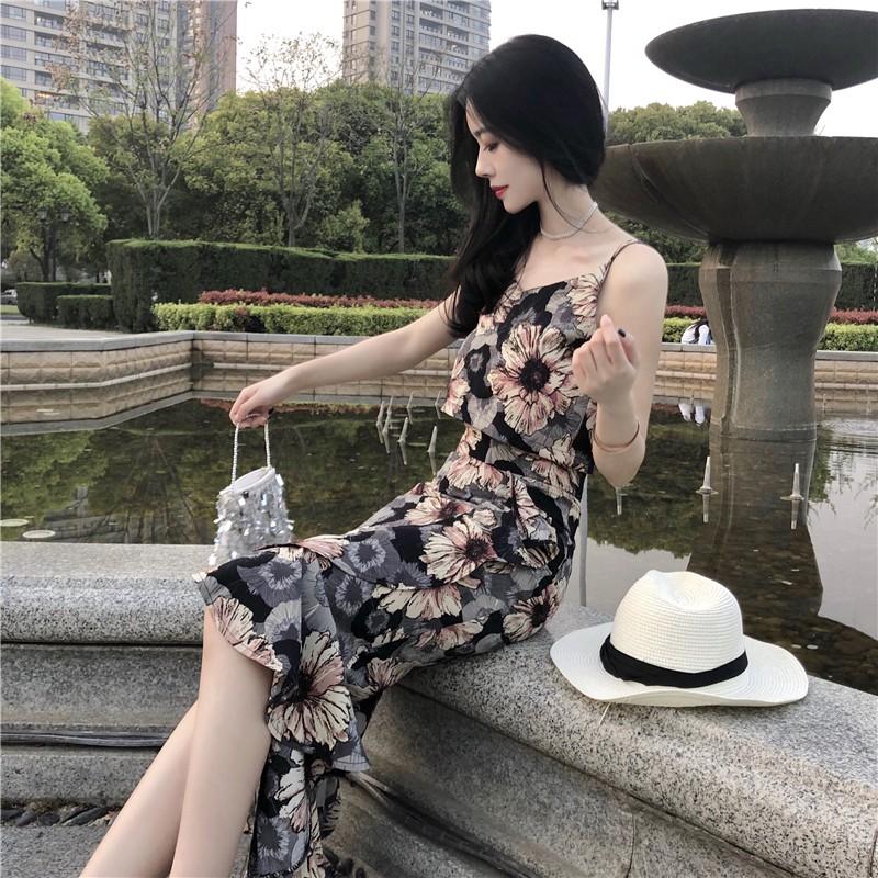 Set áo váy hoa ulzzang ( có clip )