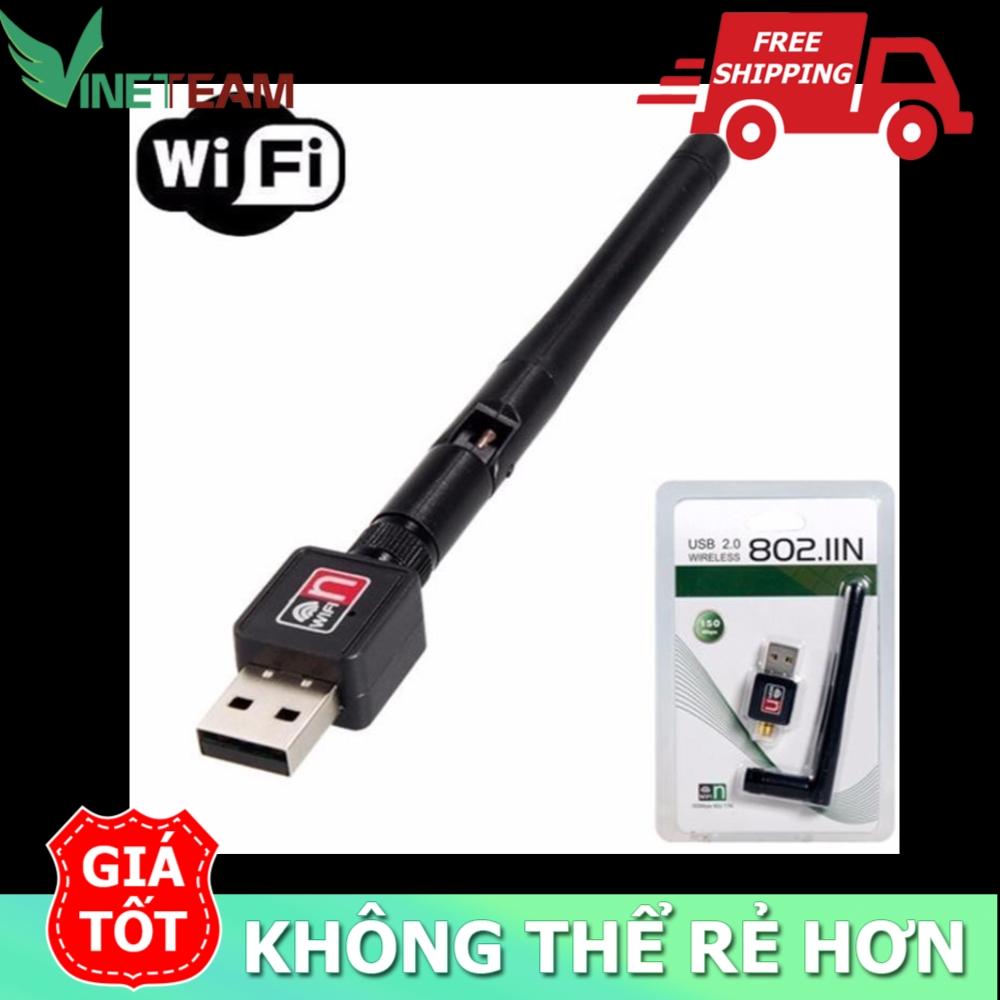 USB Wifi - USB thu Wifi 802.11n Cho Máy Bàn Có Anten -dc2381