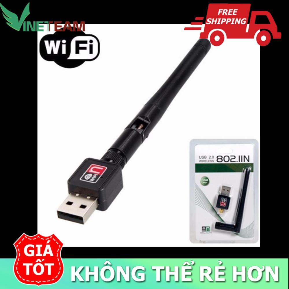 USB Wifi – USB thu Wifi 802.11n Cho Máy Bàn Có Anten -dc2381