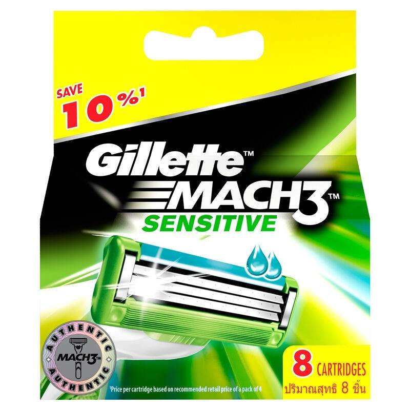 Gillette Mach 3 Sensitive Cart 8S 1CSX72IT*8X12X6