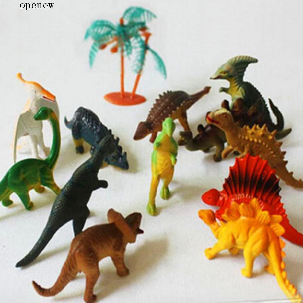 op 12 Pcs/Set Kids Unisex Plastic Animal Dinosaurs Assorted Educational Toy