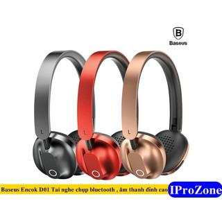 Tai nghe bluetooth chụp tai chính hãng Baseus Encok D01