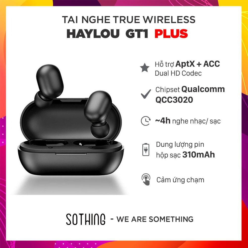 [Bảo hành 6 tháng] Tai Nghe True Wireless HAYLOU GT1 Plus - Hàng Chính Hãng