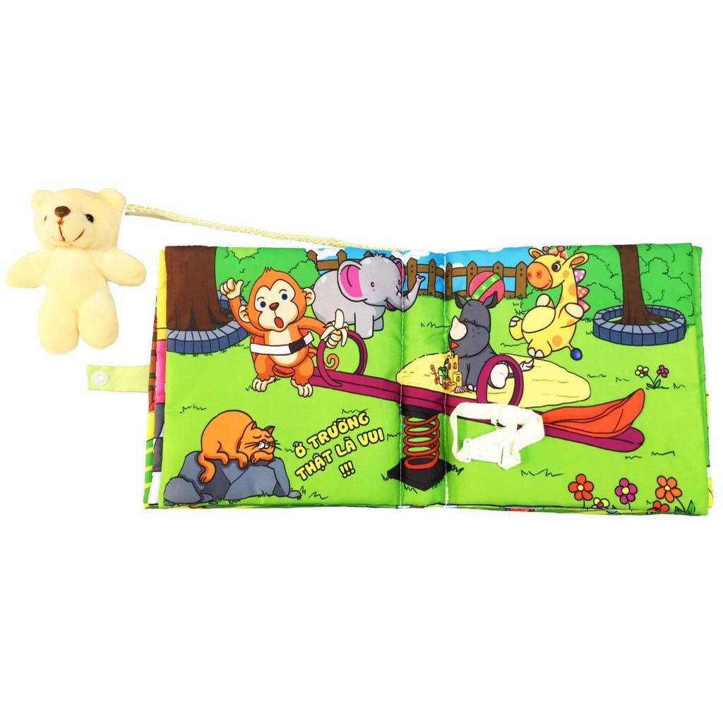 [Tặng yếm thời trang] Thú nhồi bông - Sách vải PiPo - Đồ chơi nhồi bông giáo dục