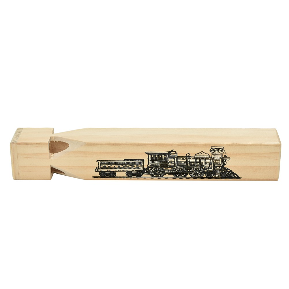 New Wooden Train Whistle - Makes A Noise Like A Real Train! Traditional Toy
