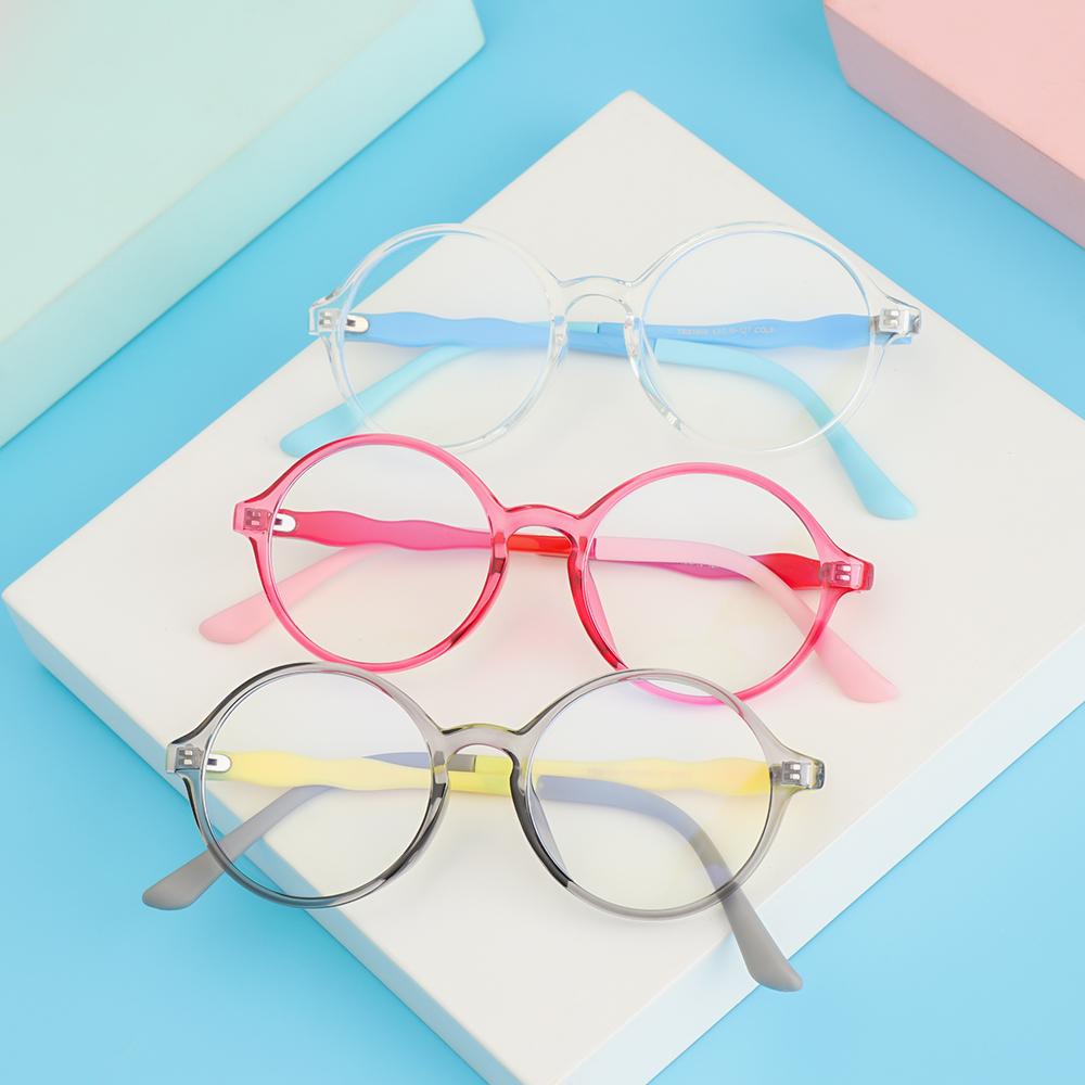 EMILEE💋 Children Boys Girls Kids Glasses TR90 Ultra Light Frame Comfortable Eyeglasses Portable Online Classes Fashion Computer Eye Protection Anti-blue...