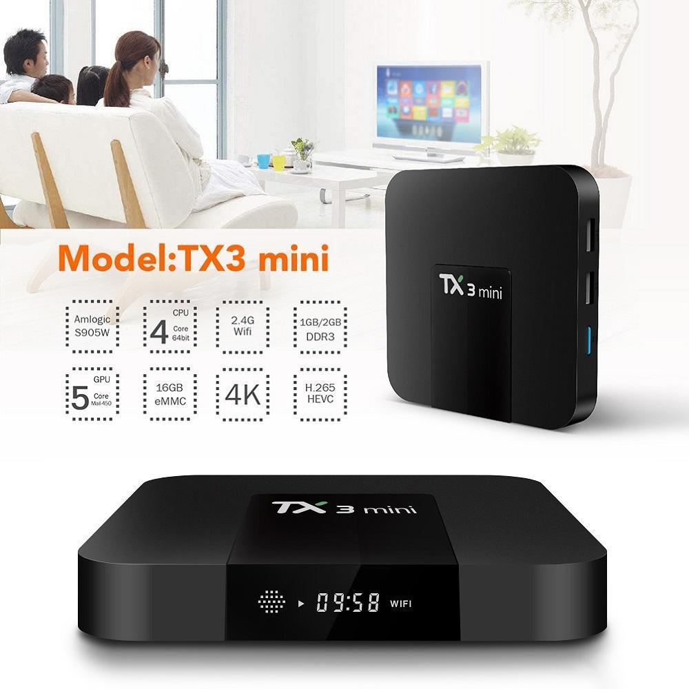 Android Tivi Box Tanix Tx3 Mini - Android 9.0 - Ram 2Gb, Rom 16GB, Bluetooth 4.0