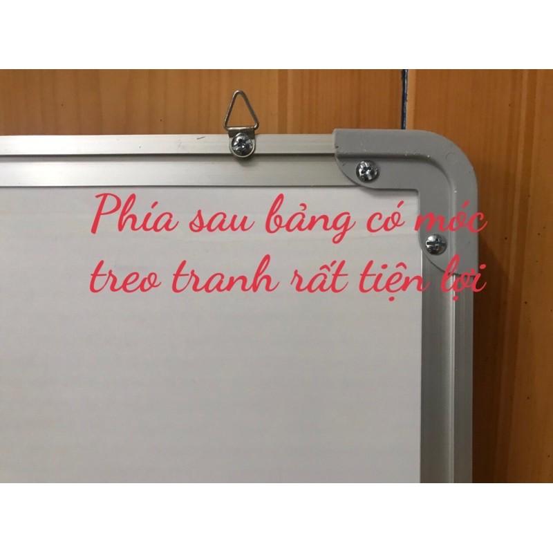 Bảng từ trắng viết bút lông, KT: 60x100cm,   tặng bút, bông lau, nam châm