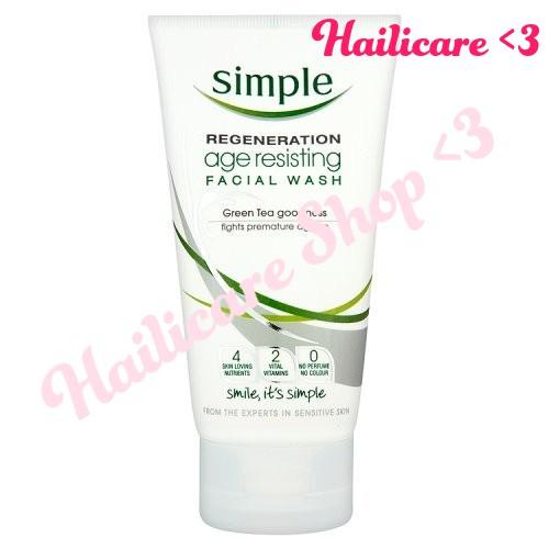 [Hàng Anh] Sữa rửa mặt chống lão hóa dịu nhẹ Simple Regeneration Age Resisting Facial Wash 150ml – X - 2488703 , 502570155 , 322_502570155 , 250000 , Hang-Anh-Sua-rua-mat-chong-lao-hoa-diu-nhe-Simple-Regeneration-Age-Resisting-Facial-Wash-150ml-X-322_502570155 , shopee.vn , [Hàng Anh] Sữa rửa mặt chống lão hóa dịu nhẹ Simple Regeneration Age Resisting