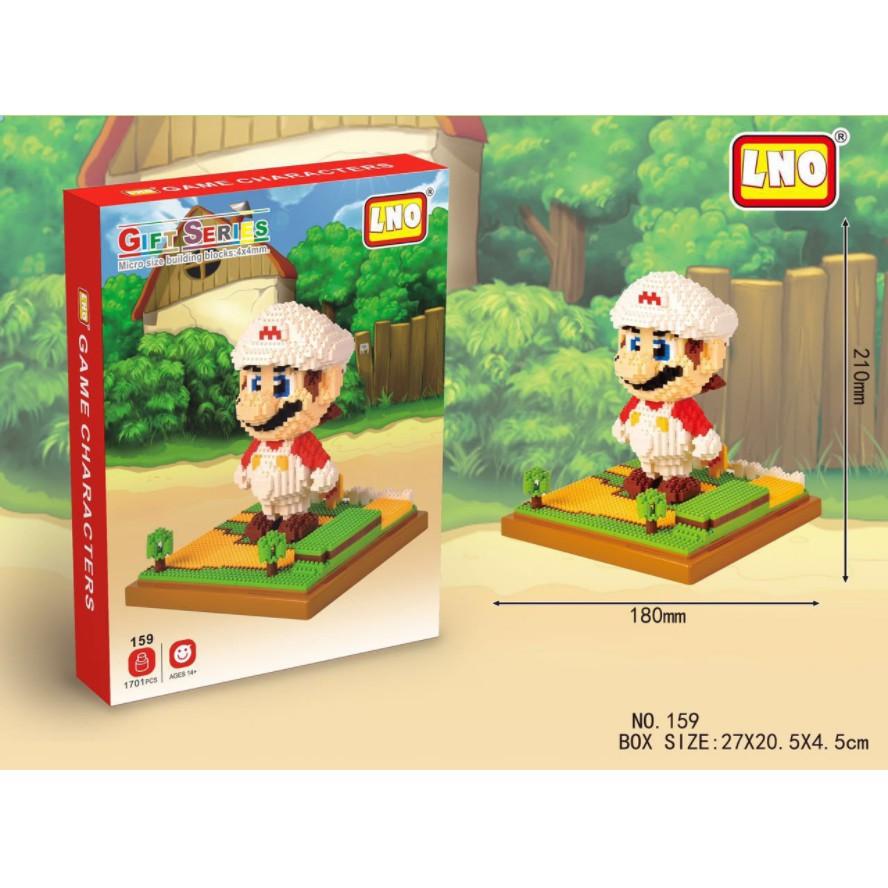 Bộ xếp hình Mario mũ trắng với 1701 mảnh ghép - Bộ xếp hình trẻ em Đồ chơi xếp hình, lắp ráp
