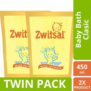 Zwitsal Baby Bath Classic Refill Pouch 450ml Twin Pack
